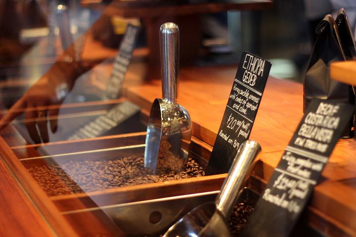 コーヒー豆のメニュー
