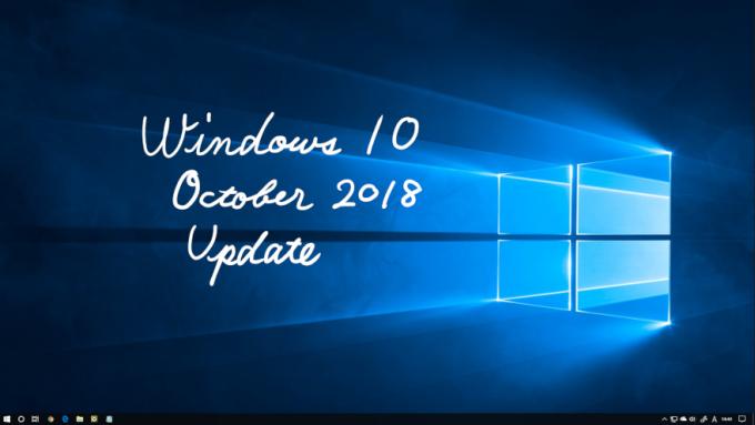 デスクトップと Windows 10 October 2018 Update の文字